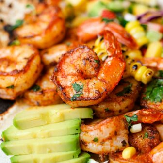 Blackened Shrimp Taco Bowls with Mango Salsa – Healthyish Foods