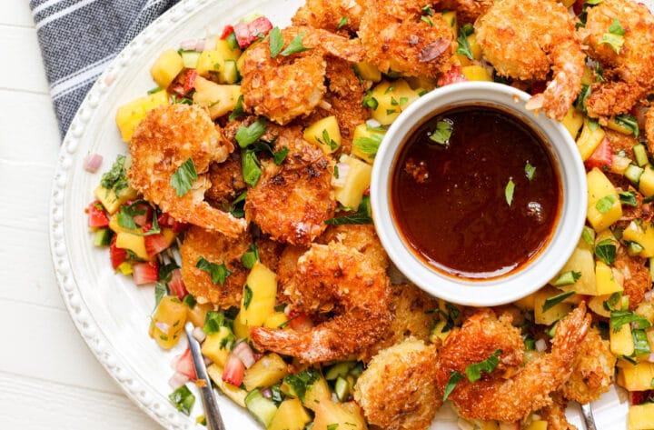 Coconut Shrimp with Honey Sriracha Sauce – Healthyish Foods