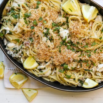 Linguini with Crab – Healthyish Foods