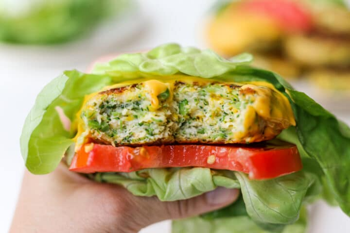 Broccoli Cheddar Chicken Burgers – Healthyish Foods