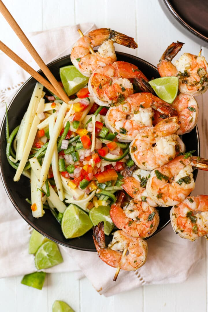 Grilled Shrimp with Hearts of Palm Salad – Healthyish Foods