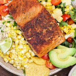 Crispy Salmon Bowls with Green Goddess Dressing – Healthyish Foods