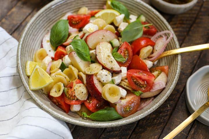 Easy Caprese Pasta Salad- Healthyish Foods