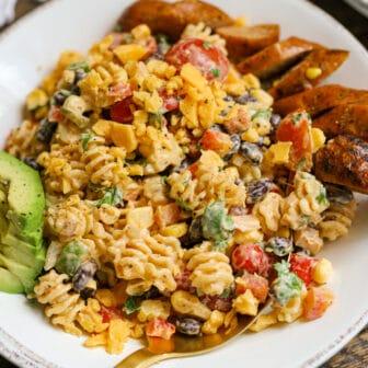 Creamy Southwest Pasta Salad – Healthyish Foods