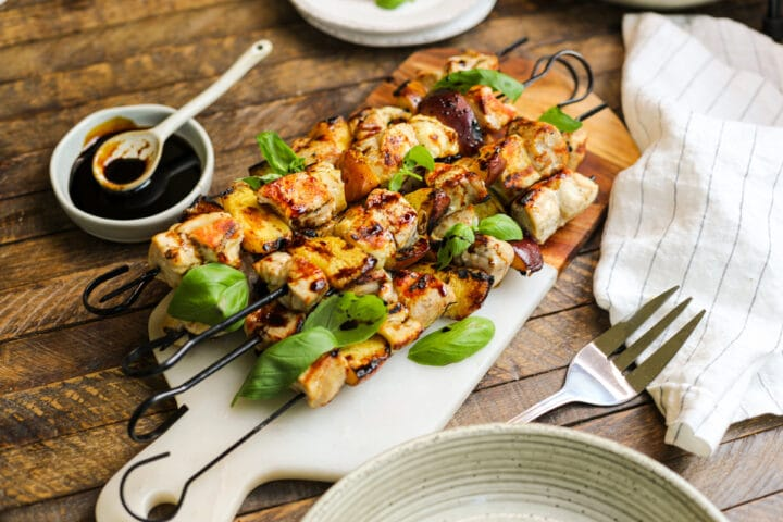 Easy Grilled Chicken and Peach Kabobs – Healthyish Foods