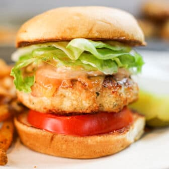 Juicy Ground Chicken Burger
